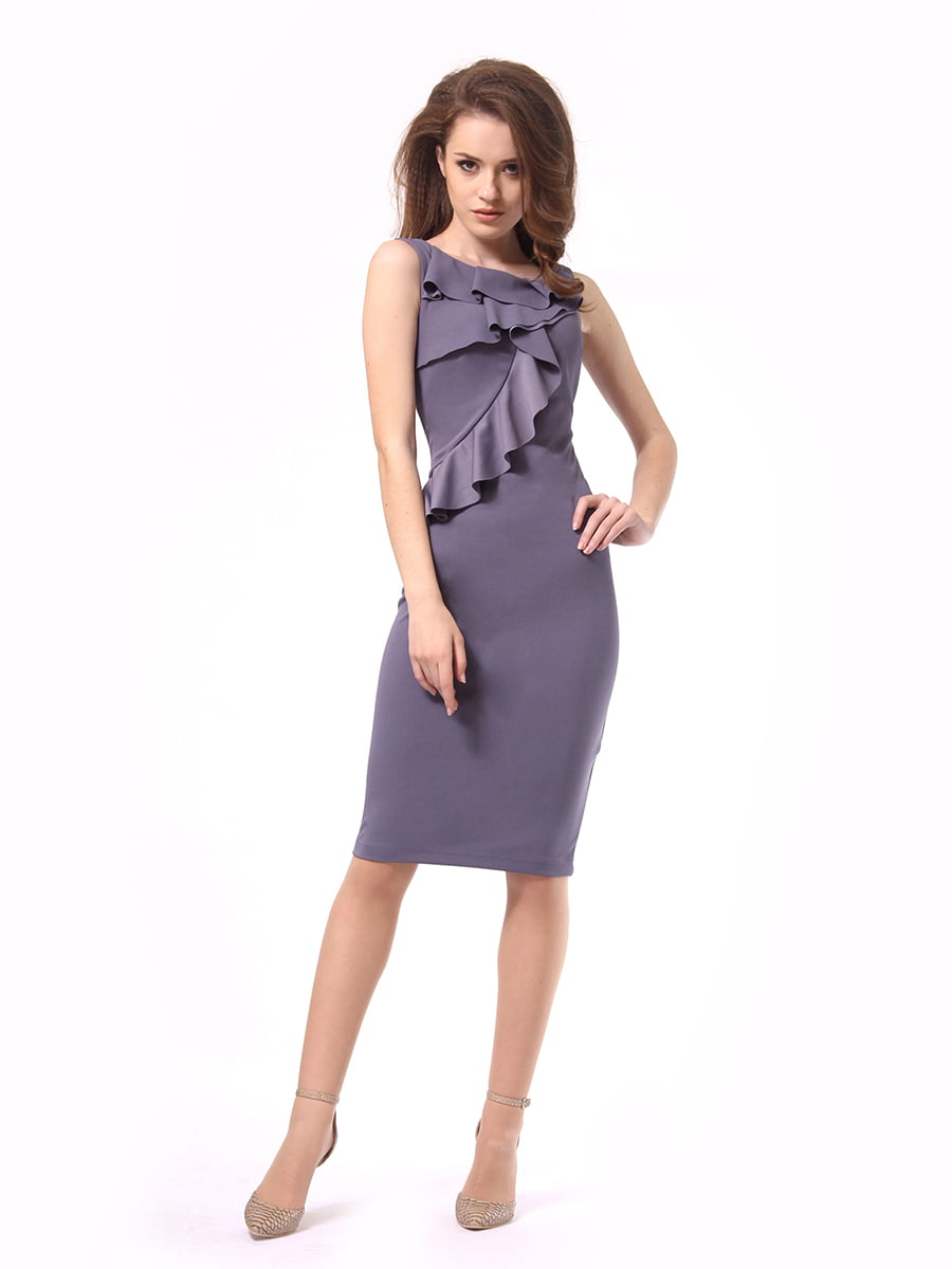 Платье графитового цвета | 4249899 | фото 4