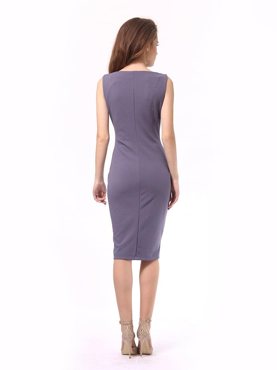 Платье графитового цвета | 4249899 | фото 5