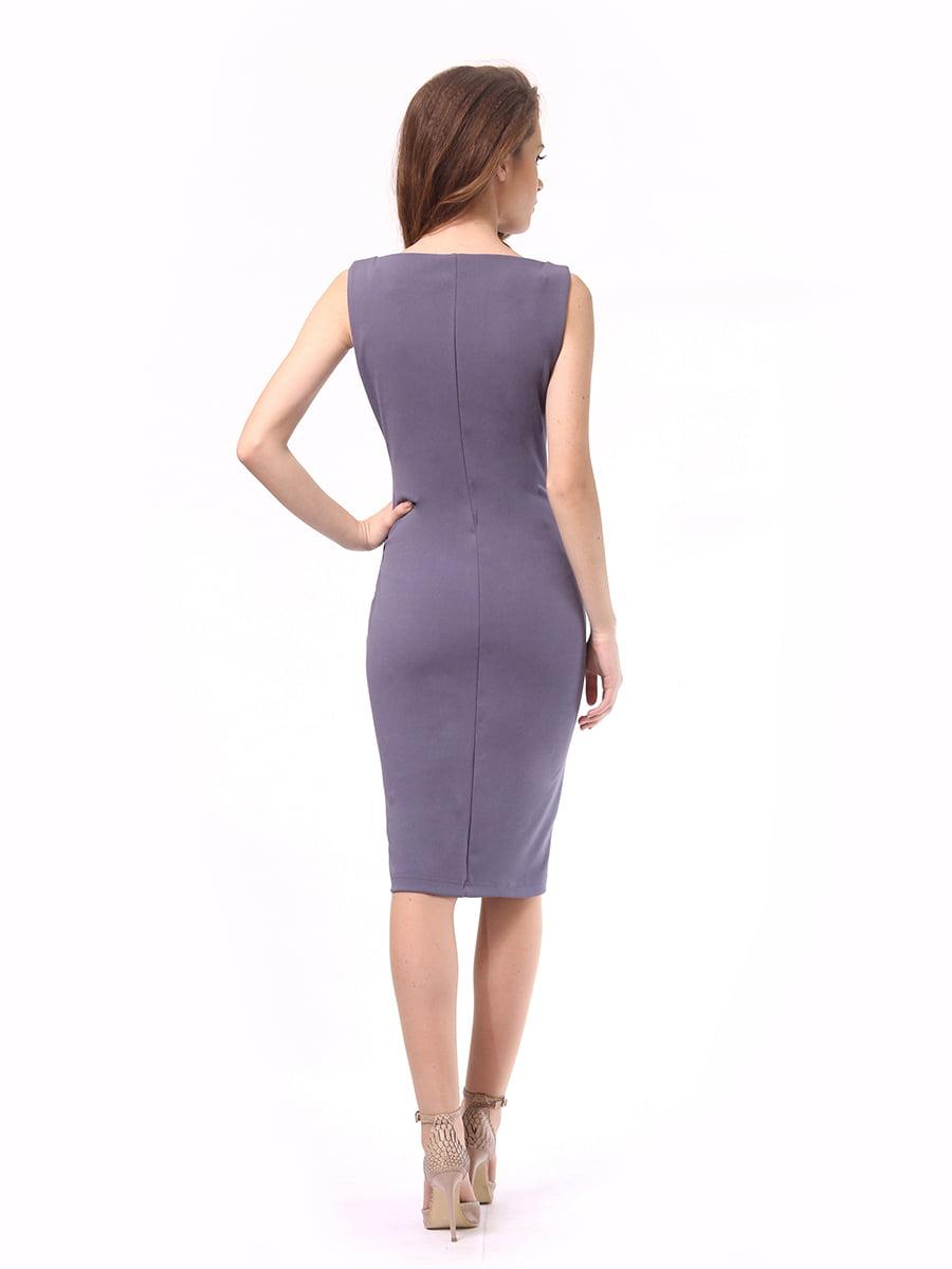 Платье графитового цвета | 4249899 | фото 6
