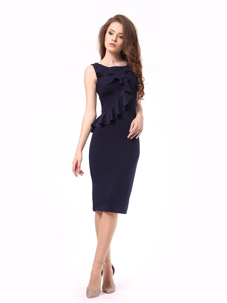 Платье темно-синее | 4249907