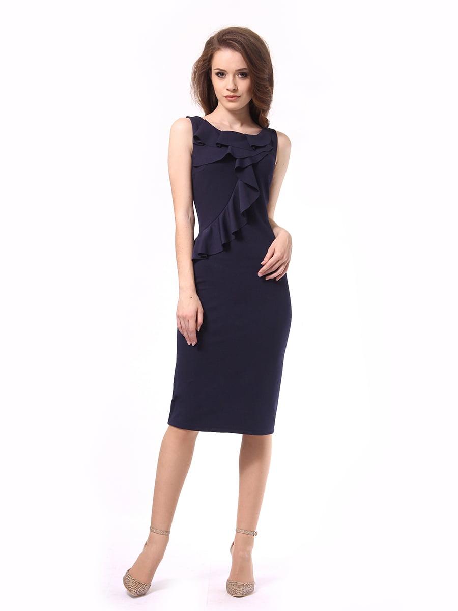 Платье темно-синее | 4249907 | фото 2