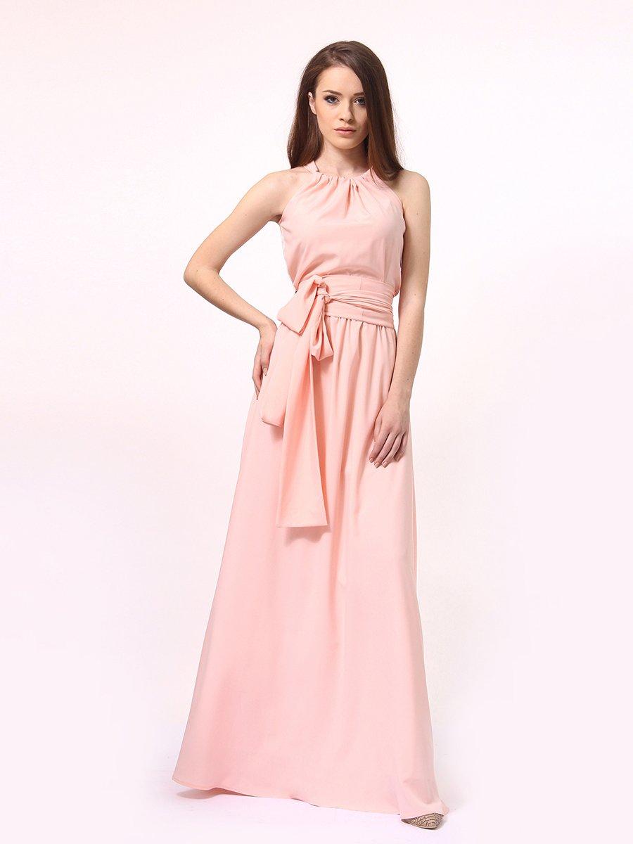 Платье-сарафан цвета пудры | 4264924