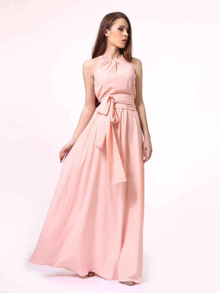 Платье-сарафан цвета пудры | 4264924 | фото 2