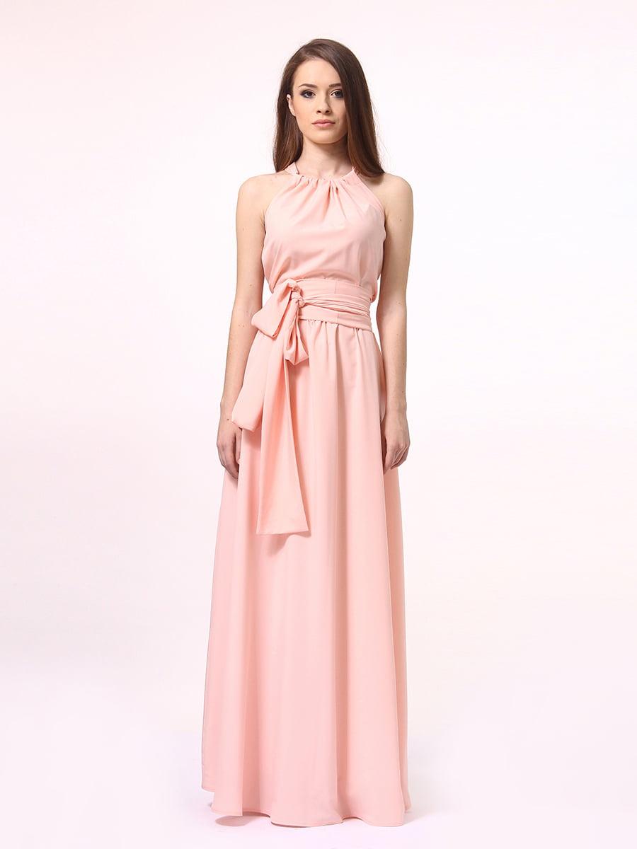 Платье-сарафан цвета пудры | 4264924 | фото 3