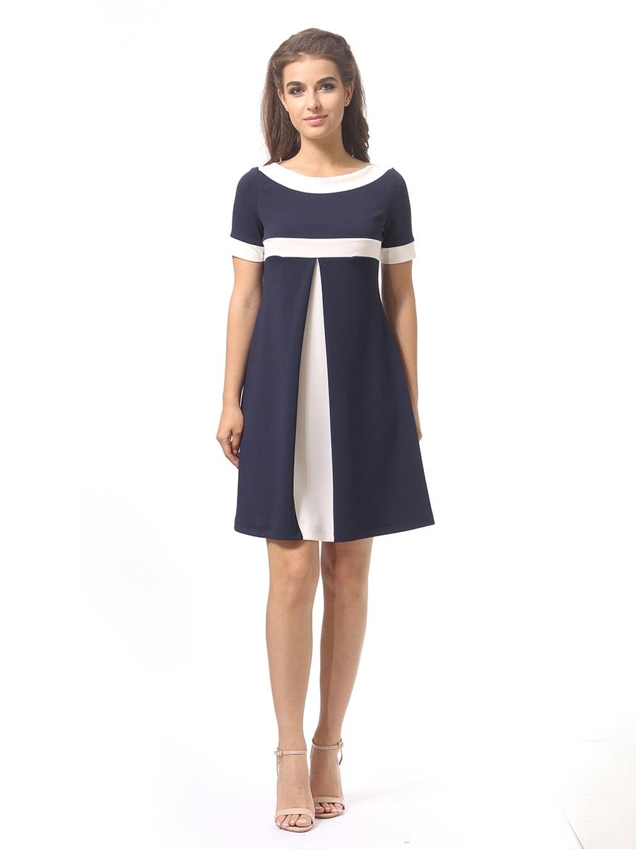 Платье темно-синее | 4264925 | фото 3