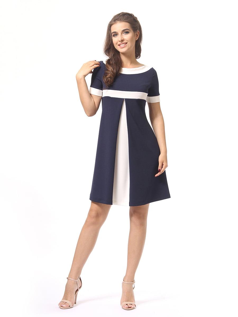 Платье темно-синее | 4264925 | фото 4