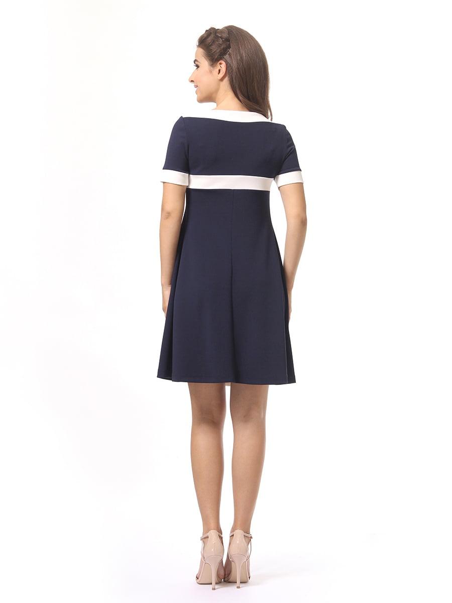 Платье темно-синее | 4264925 | фото 5