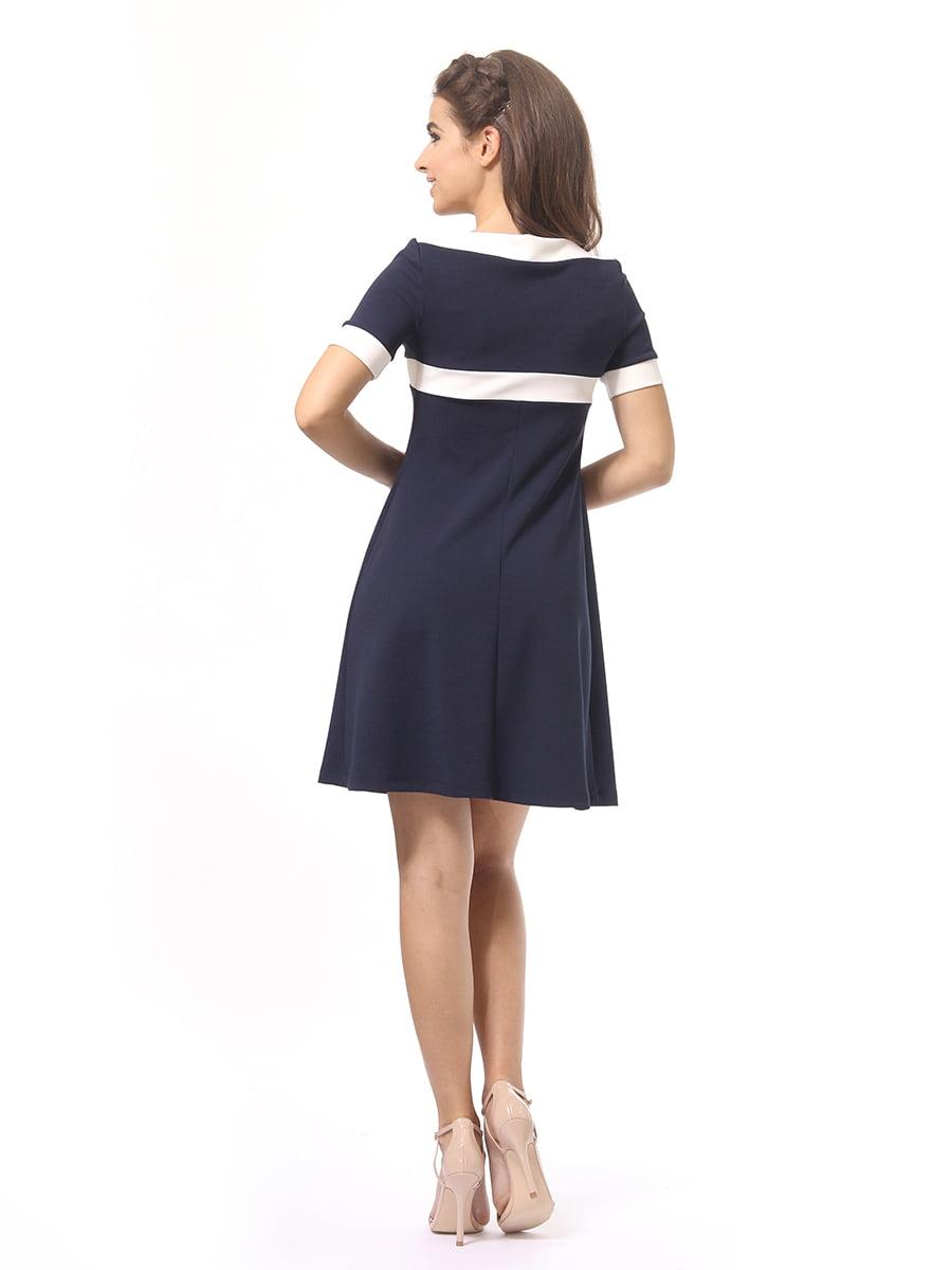 Платье темно-синее | 4264925 | фото 6