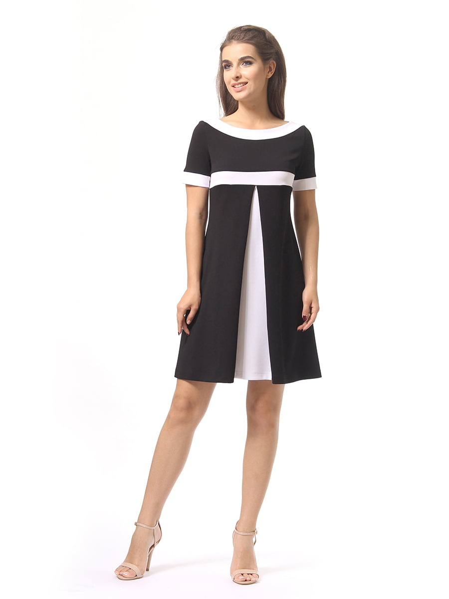 Платье черно-белое | 4264926 | фото 2