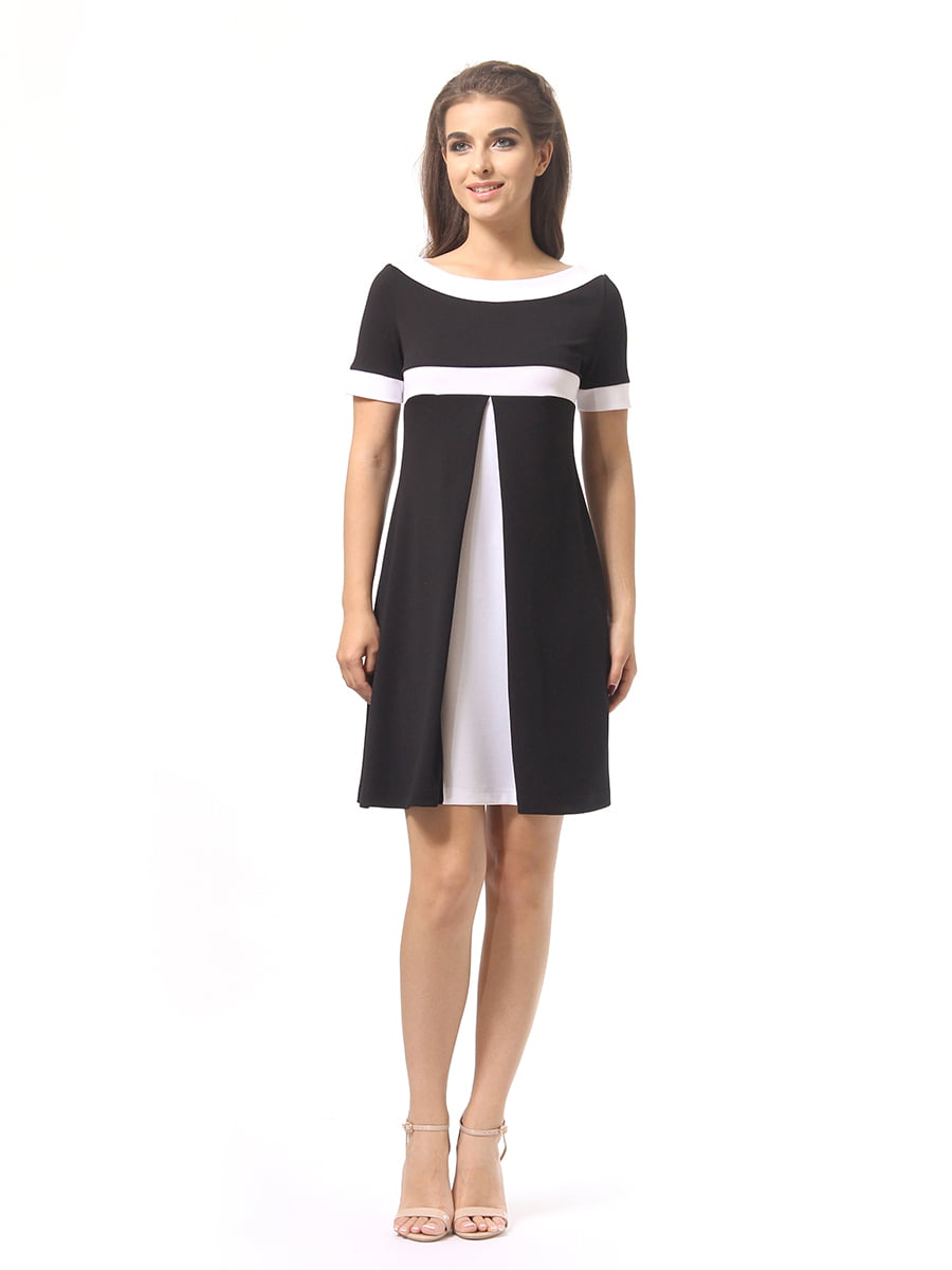 Платье черно-белое | 4264926 | фото 3