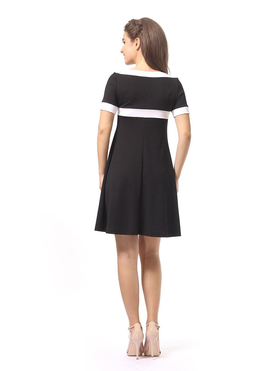 Платье черно-белое | 4264926 | фото 4