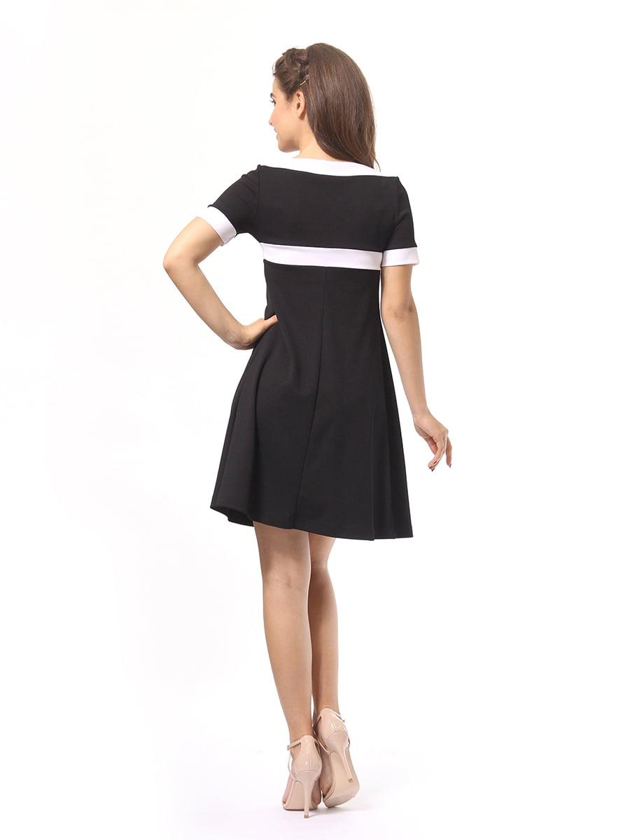 Платье черно-белое | 4264926 | фото 5