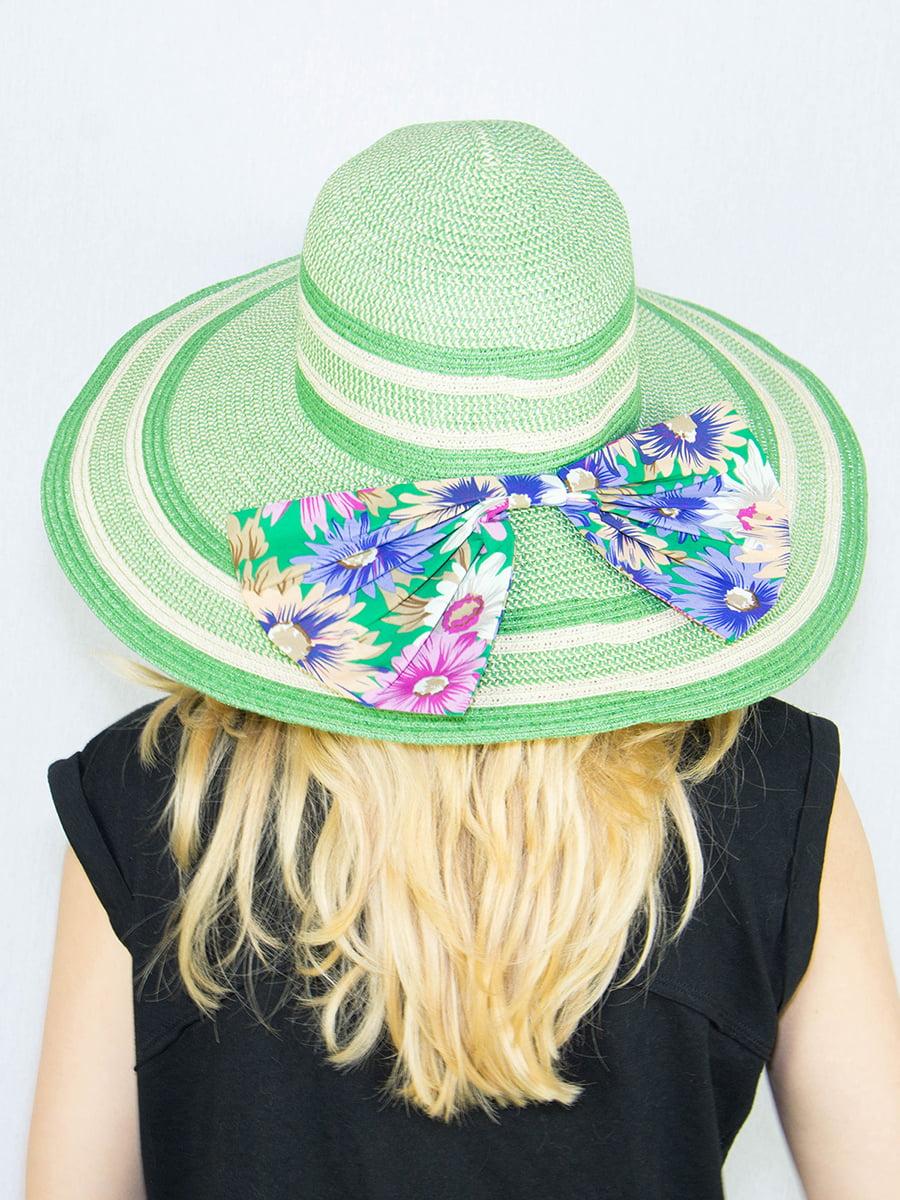 Шляпа зеленая в полоску | 4265545 | фото 2