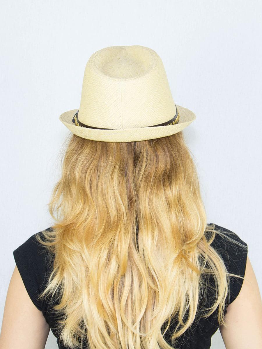 Шляпа бежевая | 4265586 | фото 3