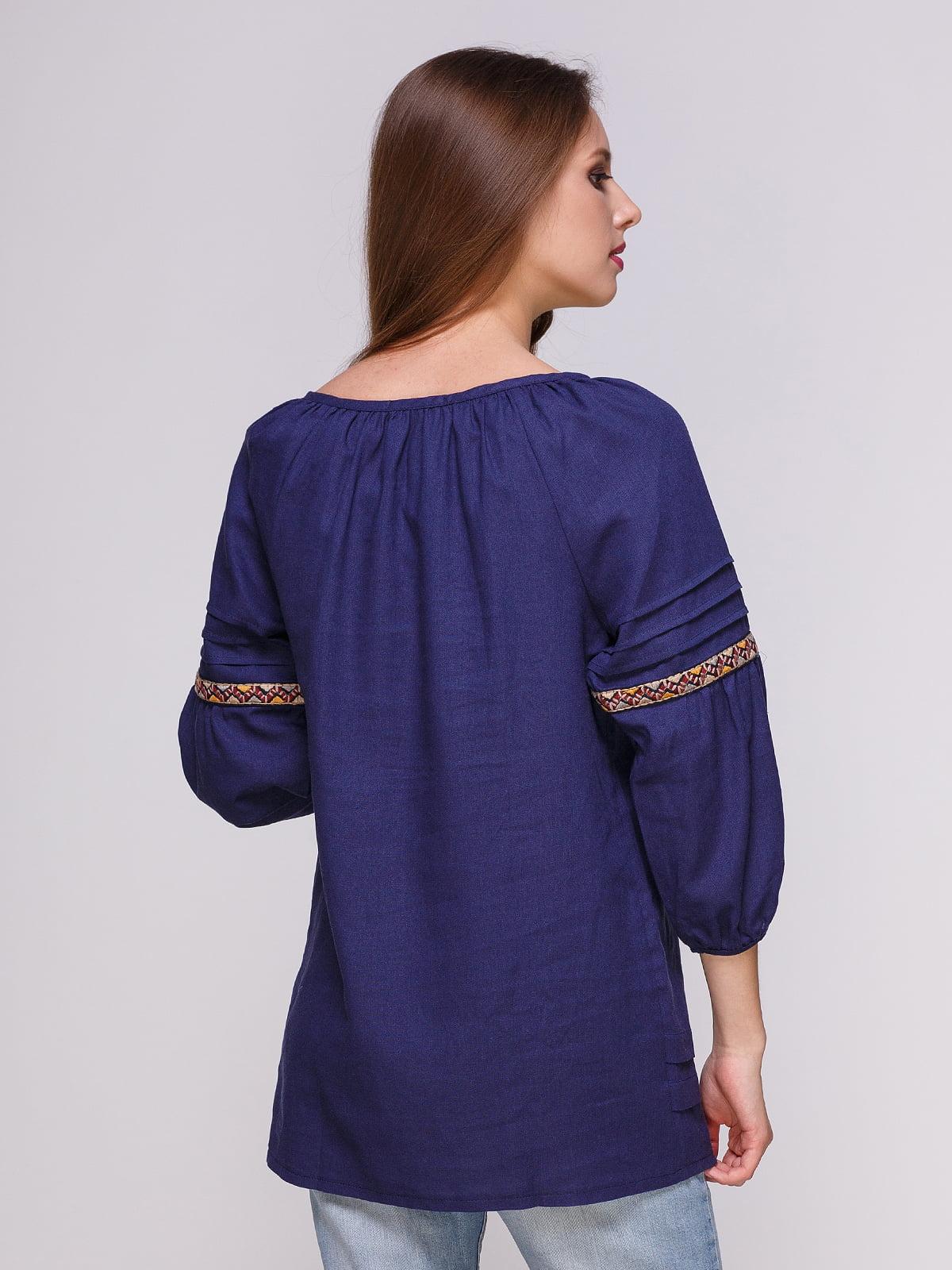 Блуза темно-синя | 4262384 | фото 2
