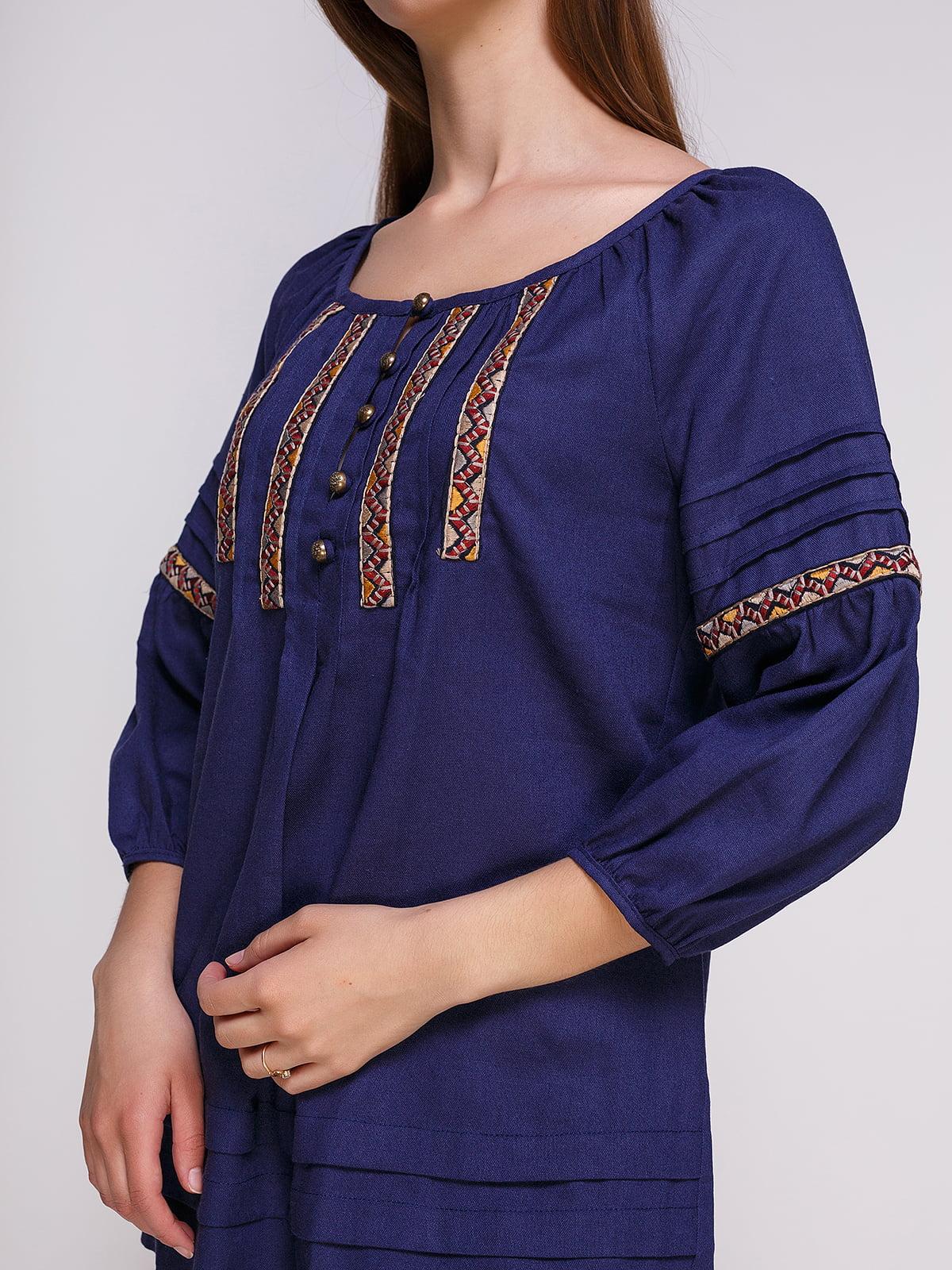 Блуза темно-синя | 4262384 | фото 3