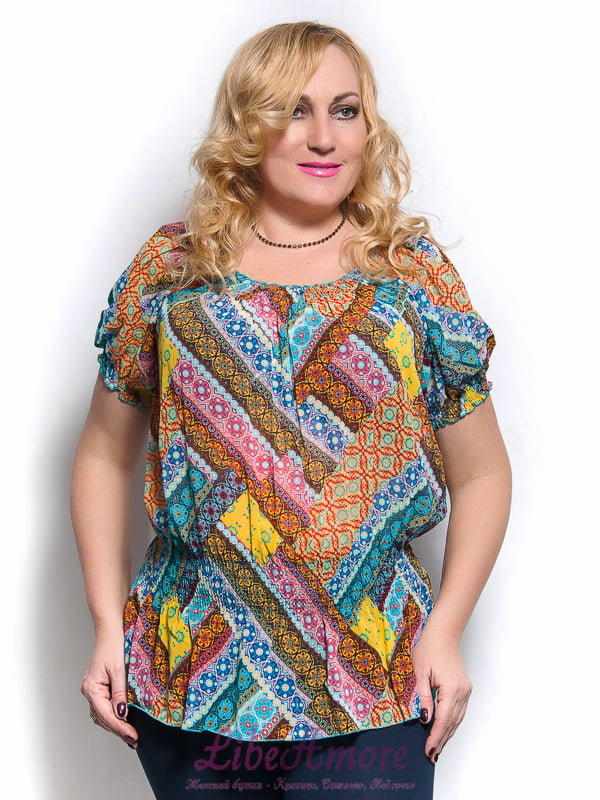 Блуза разноцветная | 4261710 | фото 2