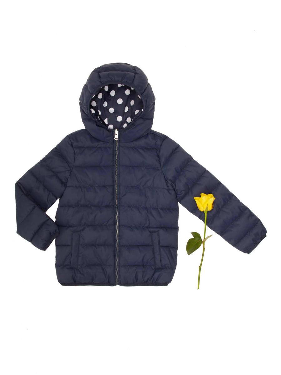 Куртка синя в горох двостороння   4051919
