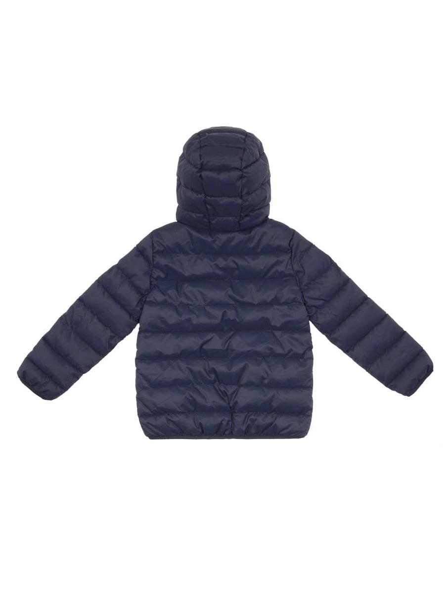 Куртка синя в горох двостороння   4051919   фото 2