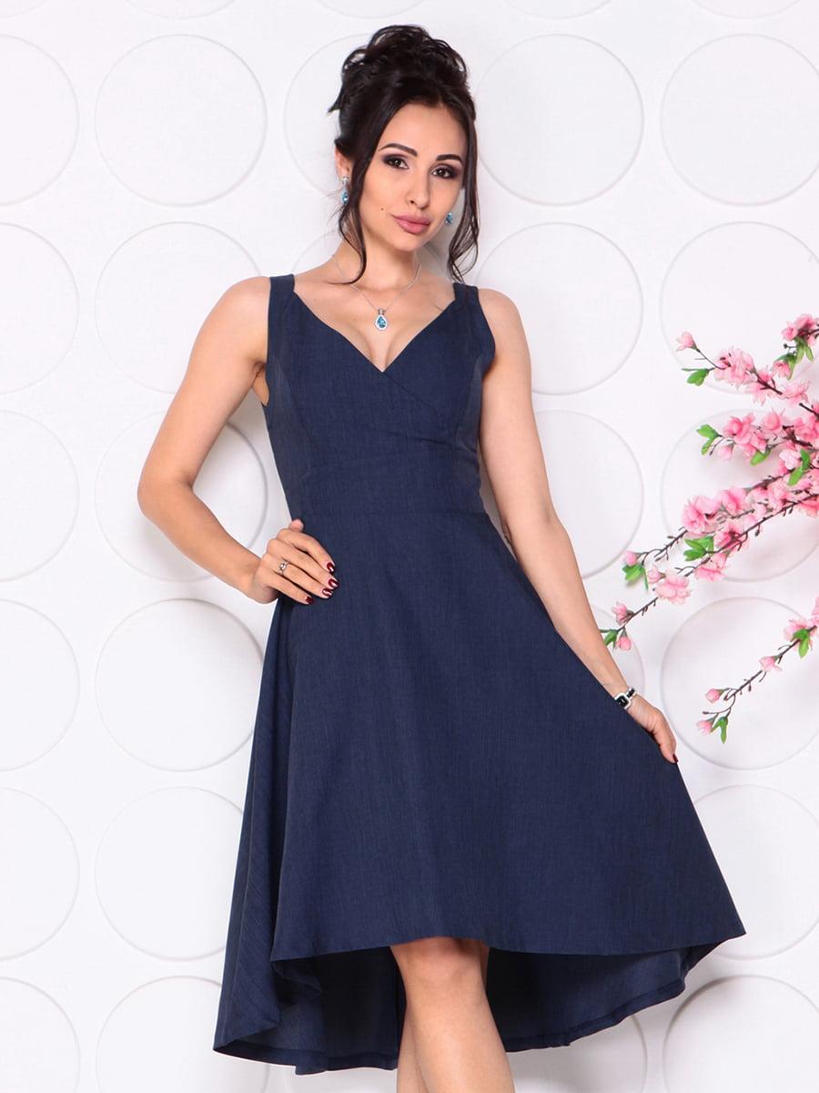 Платье темно-синее | 4279524
