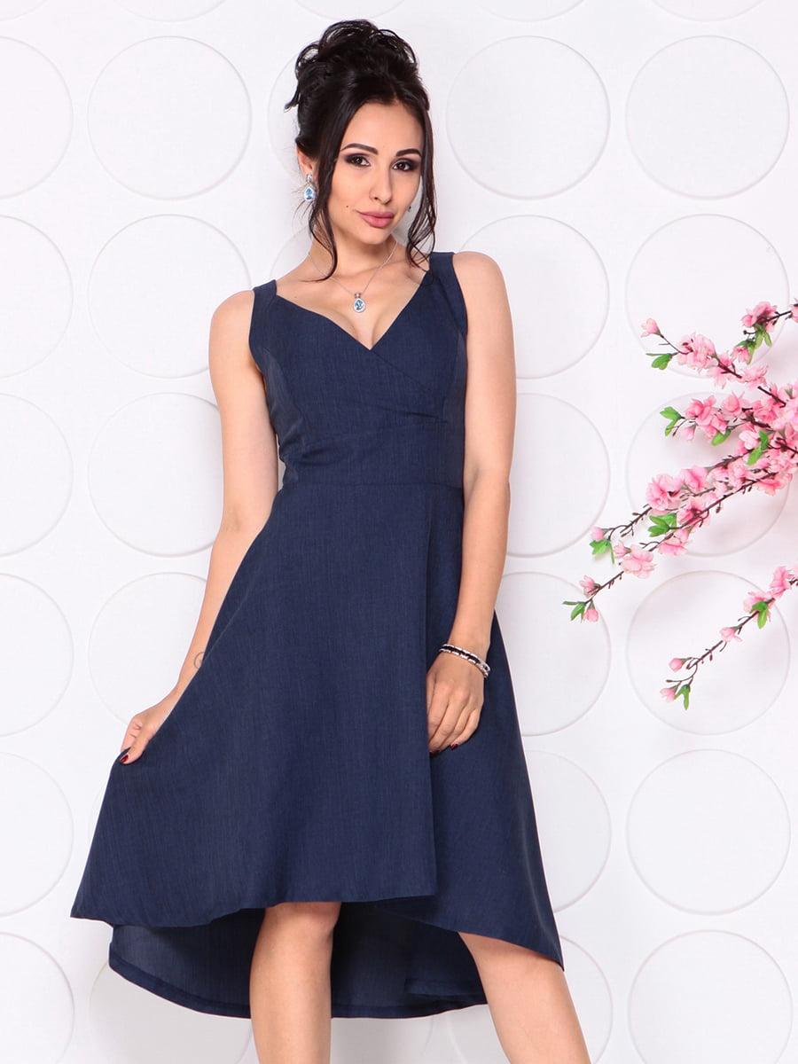 Платье темно-синее | 4279524 | фото 3