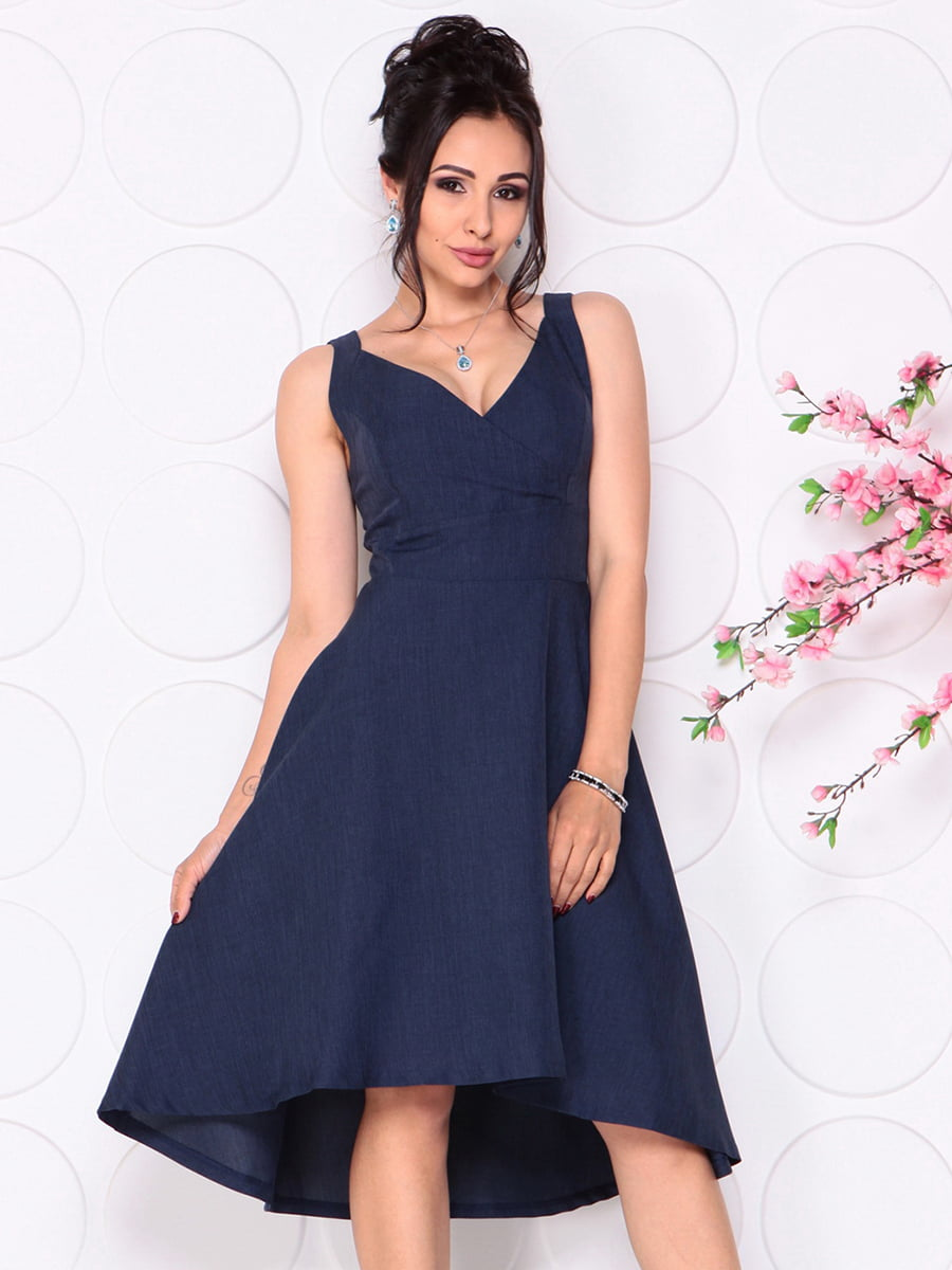 Платье темно-синее | 4279524 | фото 5
