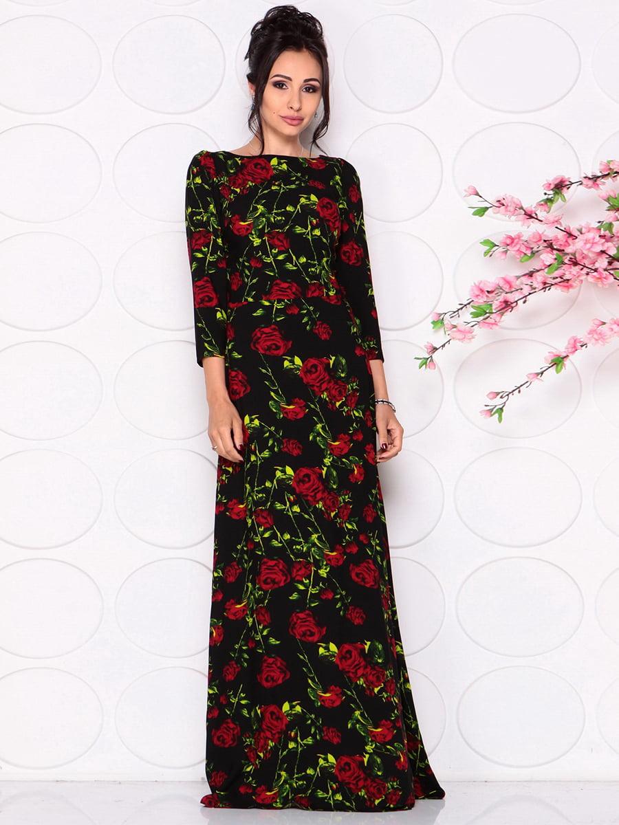 Платье в цветочный принт | 4279673