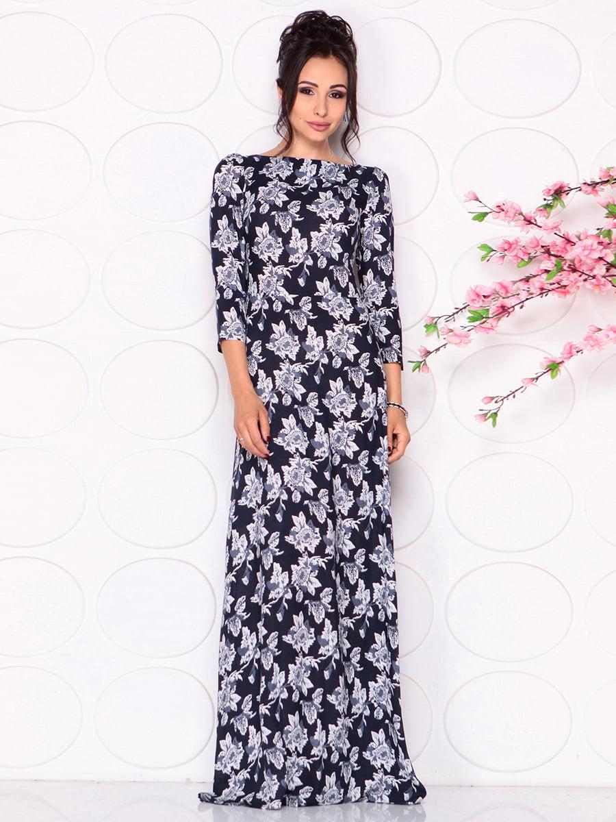 Платье в цветочный принт | 4279674