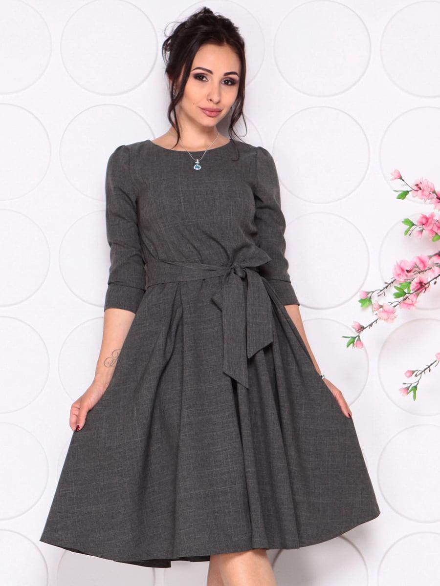 Платье графитового цвета | 4279679