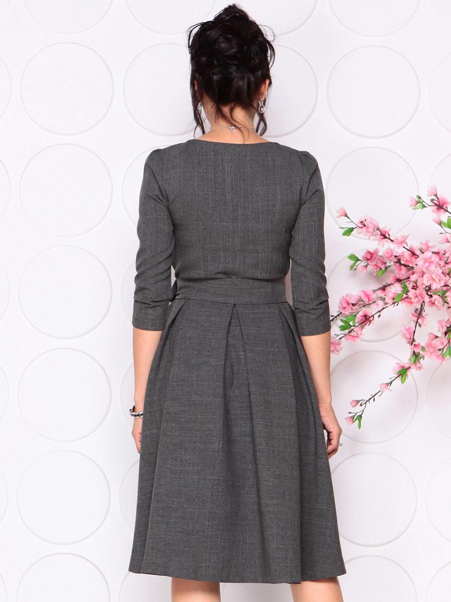 Платье графитового цвета | 4279679 | фото 2