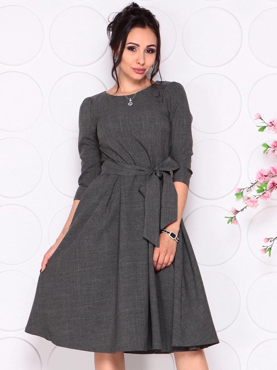 Платье графитового цвета | 4279679 | фото 3