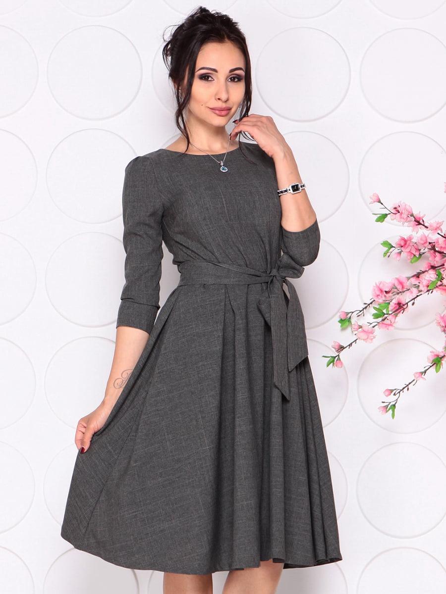 Платье графитового цвета | 4279679 | фото 4