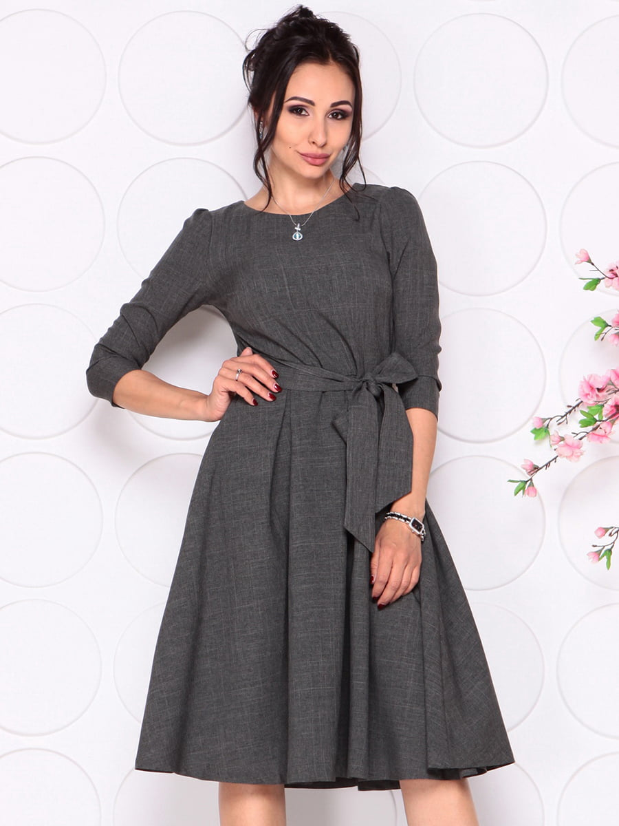Платье графитового цвета | 4279679 | фото 5
