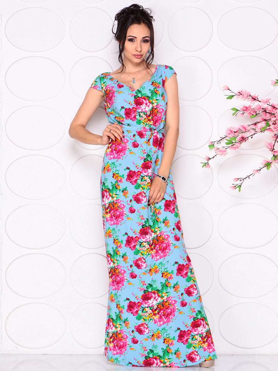 Платье в цветочный принт | 4279697