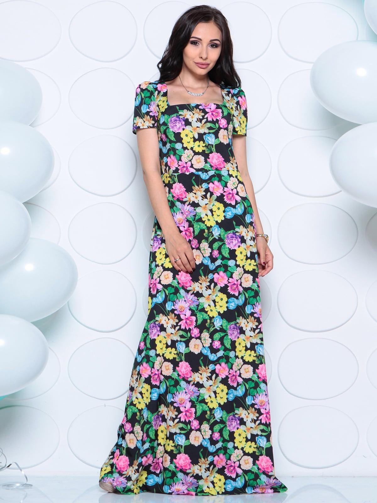Платье в цветочный принт | 4279711