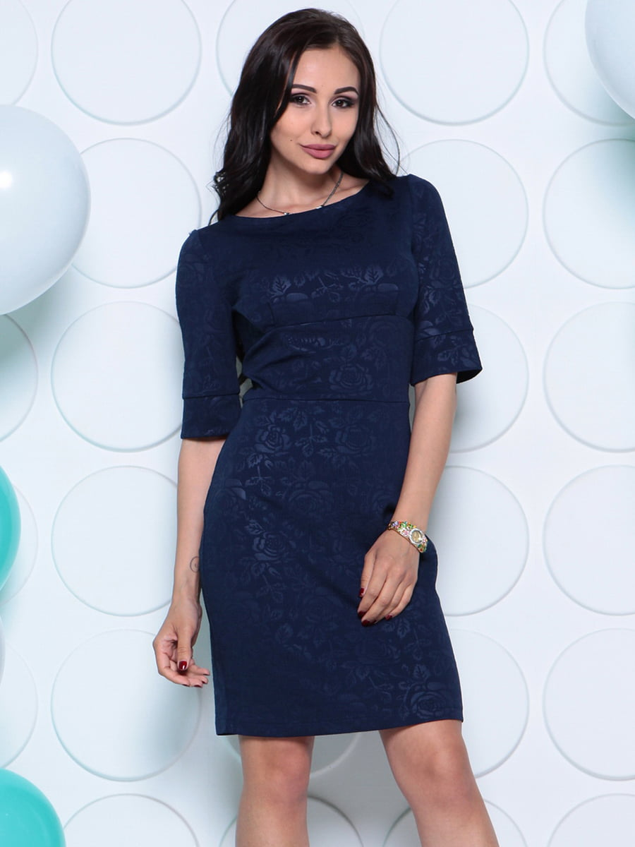 Платье темно-синее | 4279731 | фото 3