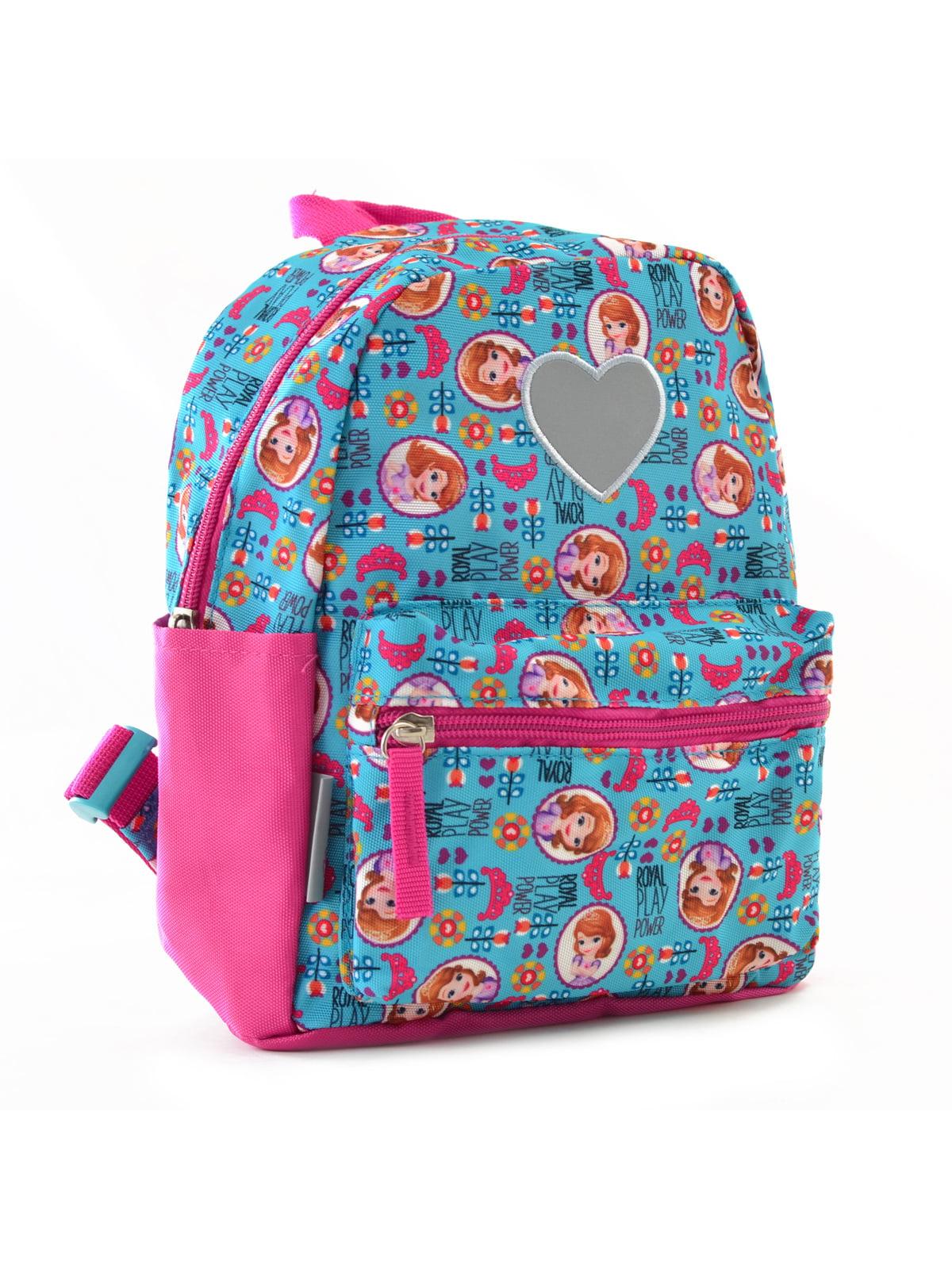 Рюкзак дитячий рожево-блакитний з принтом | 4284717