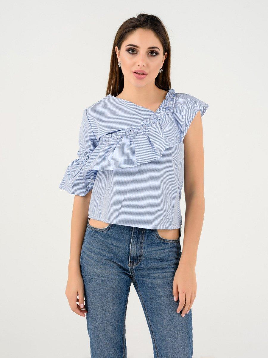 Блуза синяя в полоску | 4237740