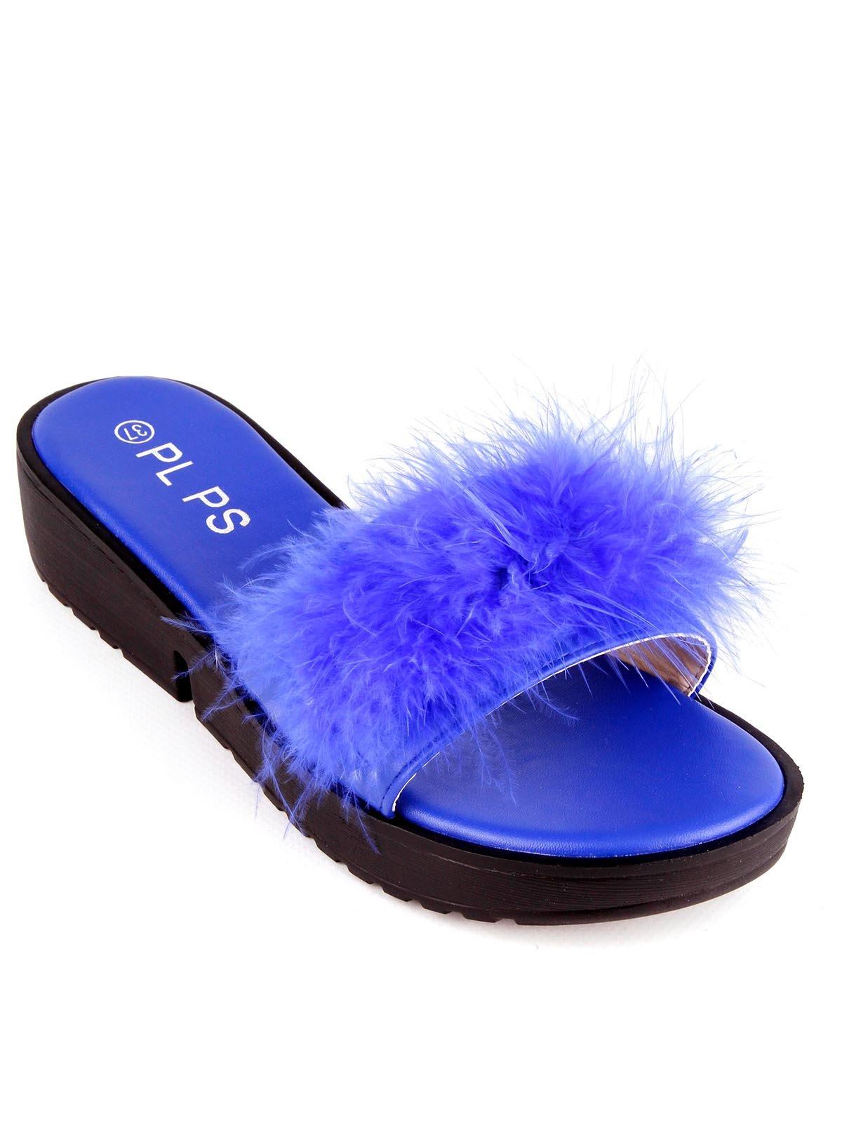 Шлепанцы синие   4284180