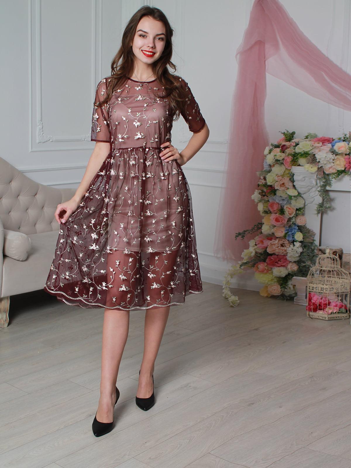Платье бордовое | 4229430