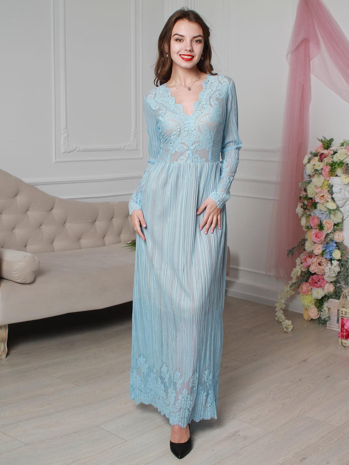 Платье голубое   4287023