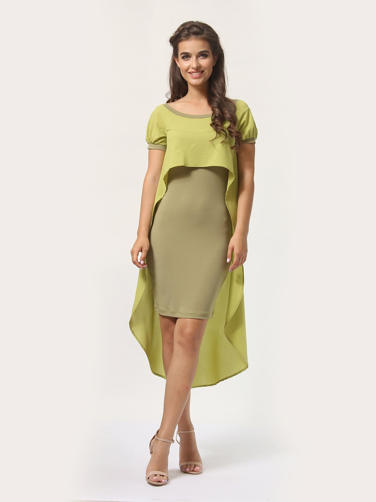 Платье оливкового цвета | 4290401
