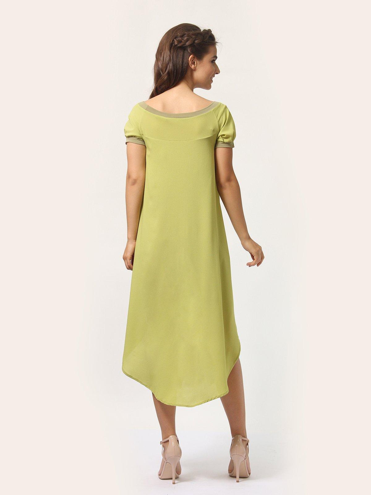 Платье оливкового цвета | 4290401 | фото 4