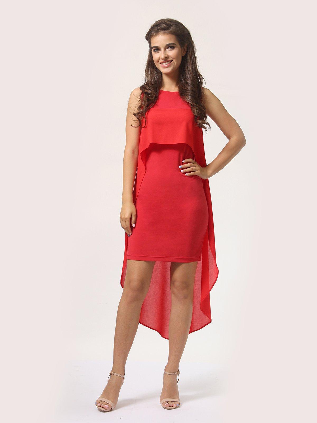 Платье красно-белое   4290409
