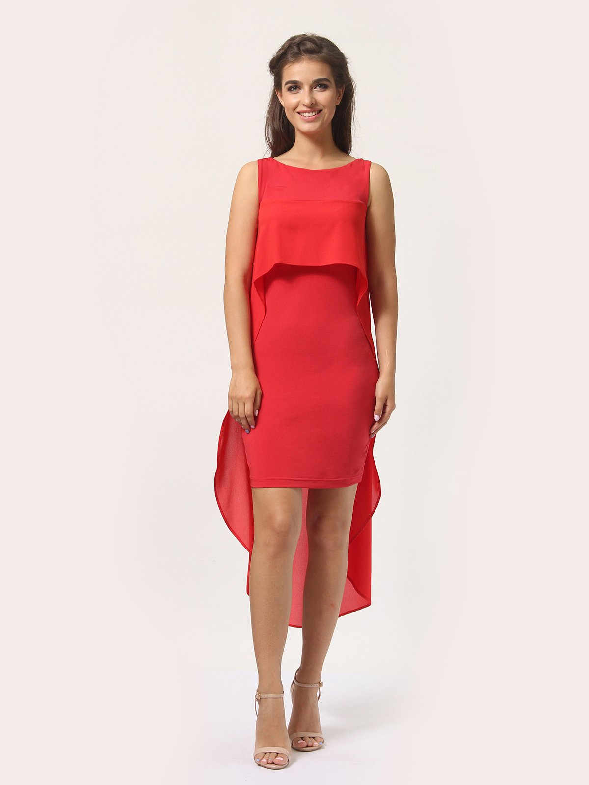 Платье красно-белое   4290409   фото 2