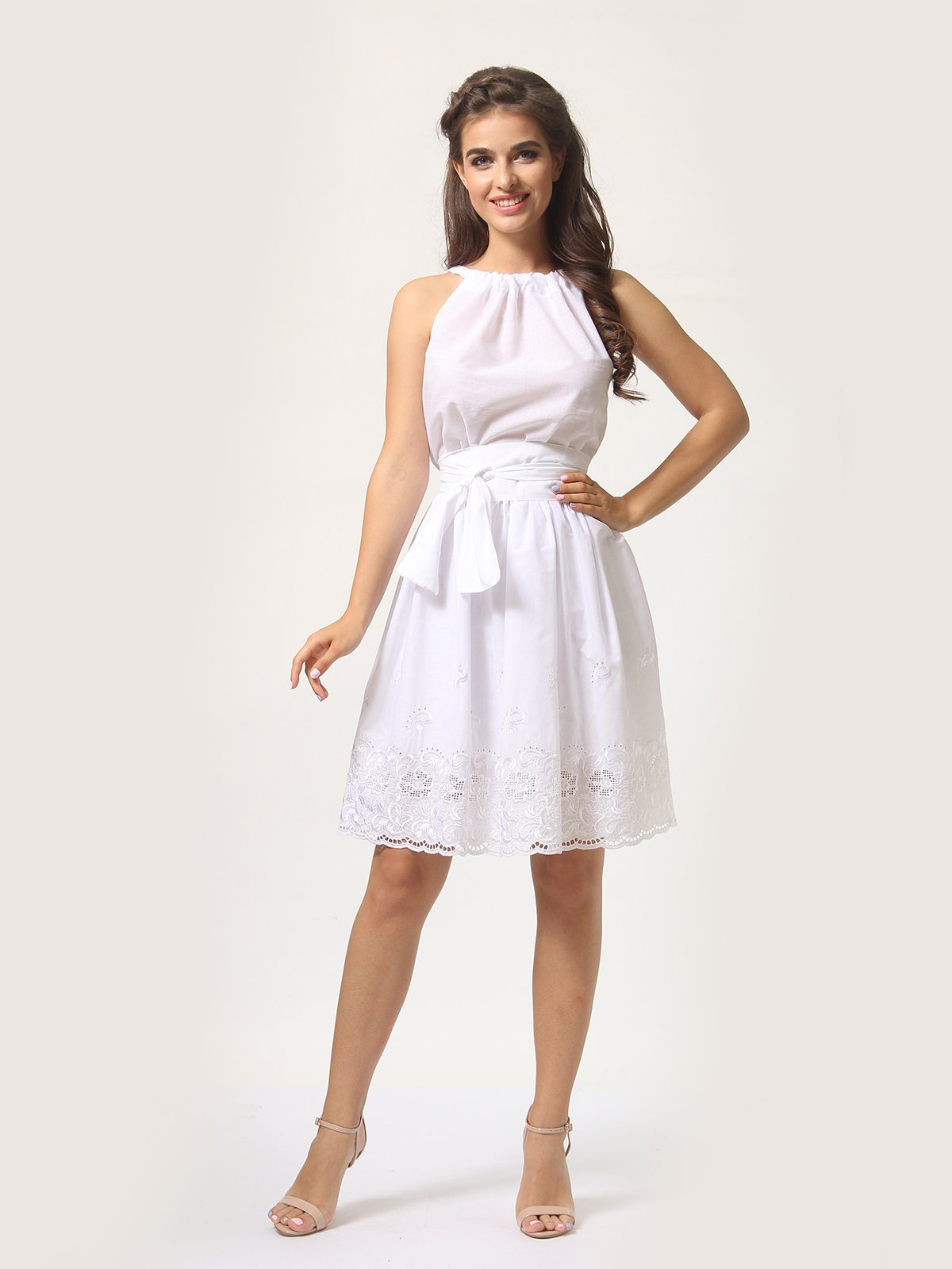 Платье-сарафан белое | 4290446