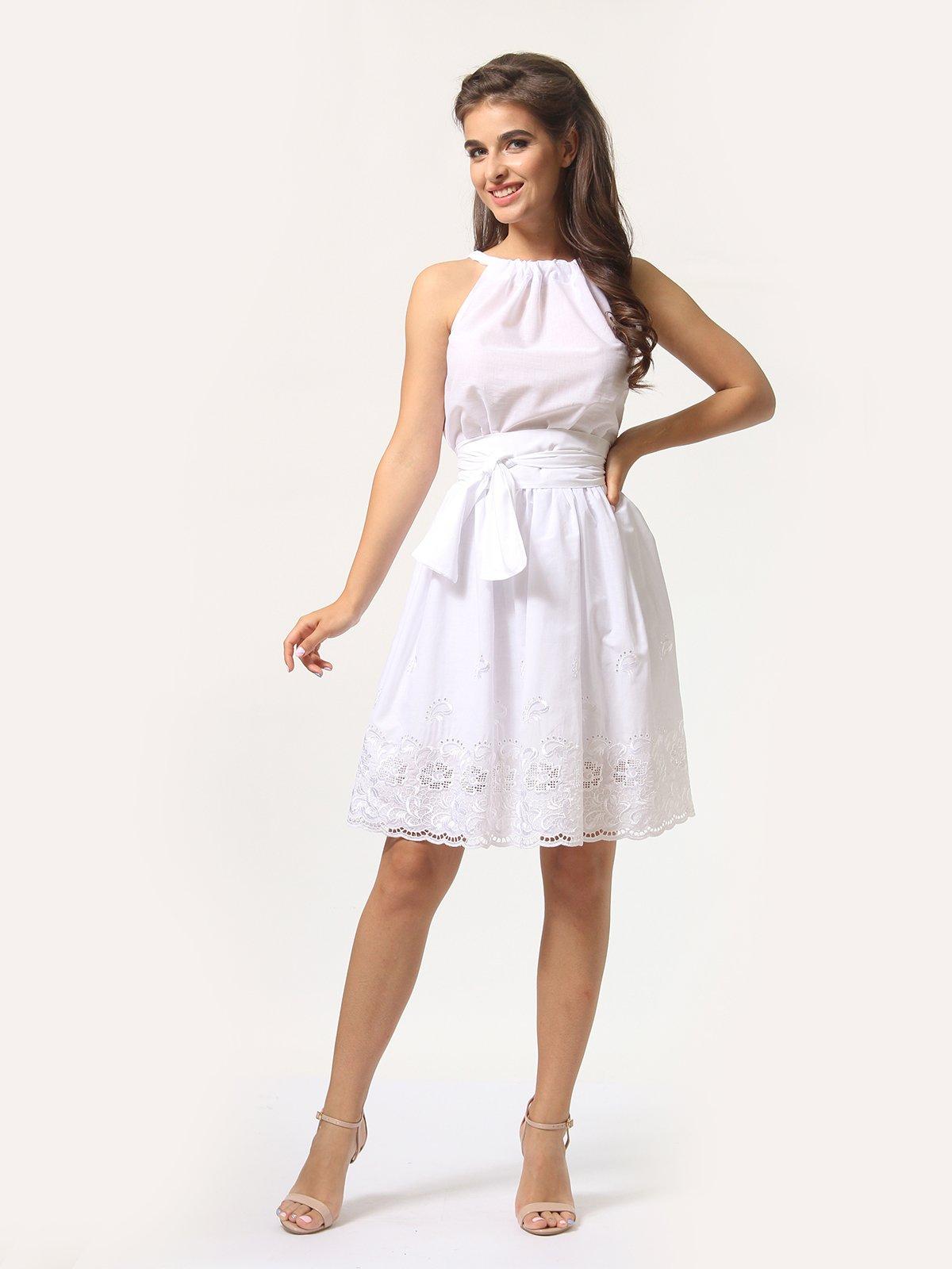 Платье-сарафан белое | 4290446 | фото 2