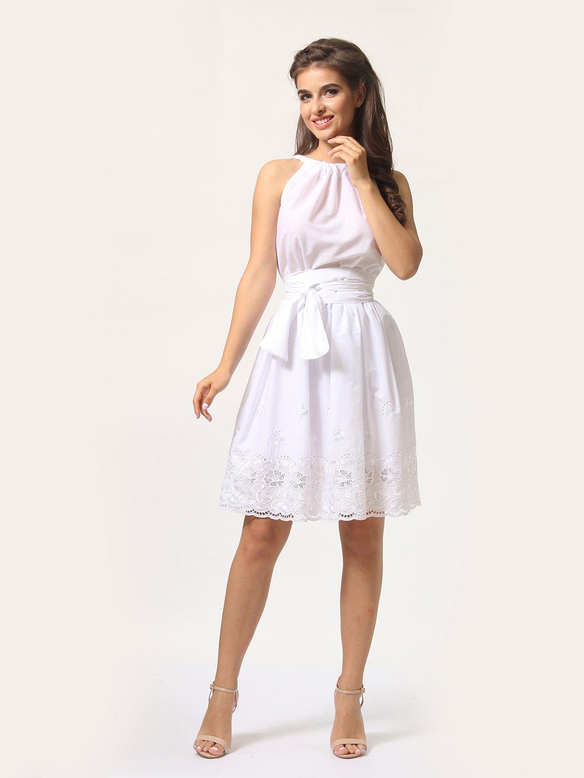 Платье-сарафан белое | 4290446 | фото 3