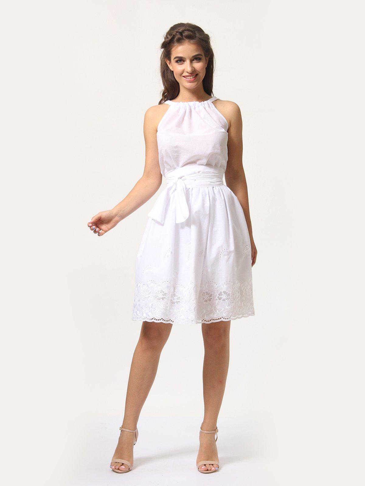 Платье-сарафан белое | 4290446 | фото 4