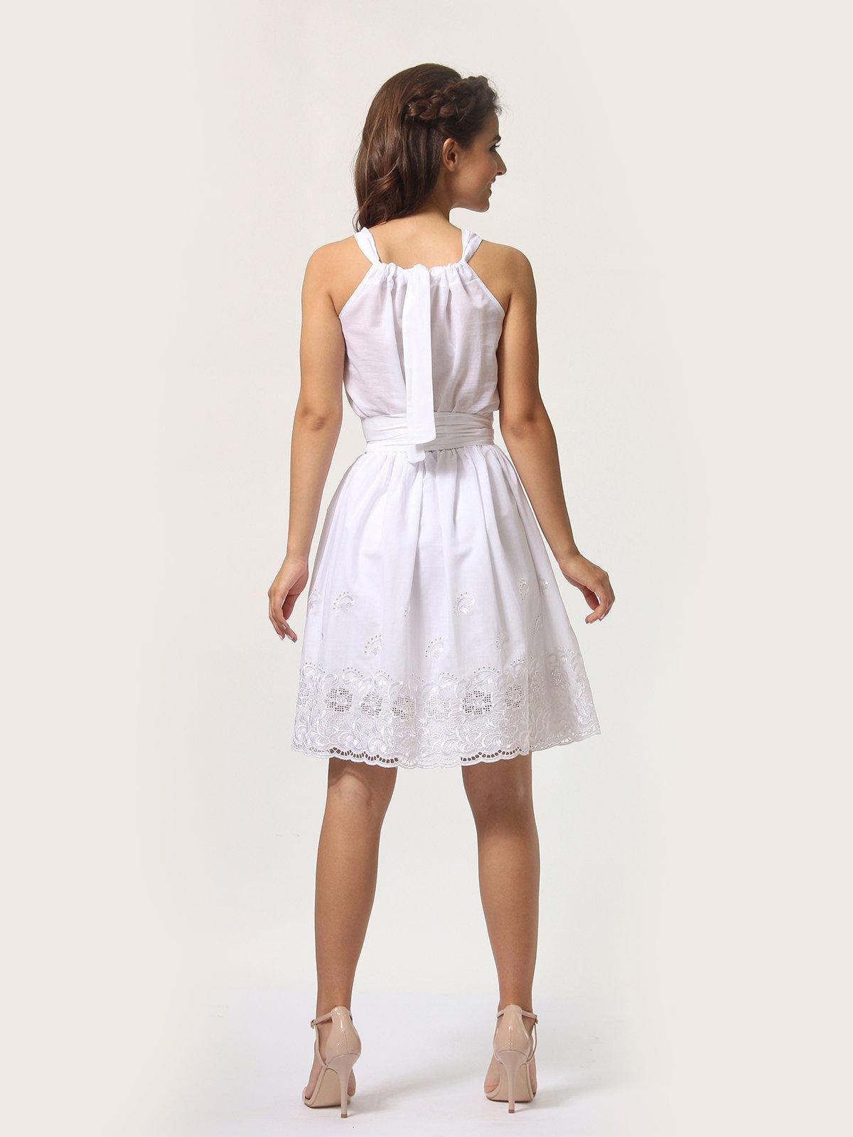 Платье-сарафан белое | 4290446 | фото 5